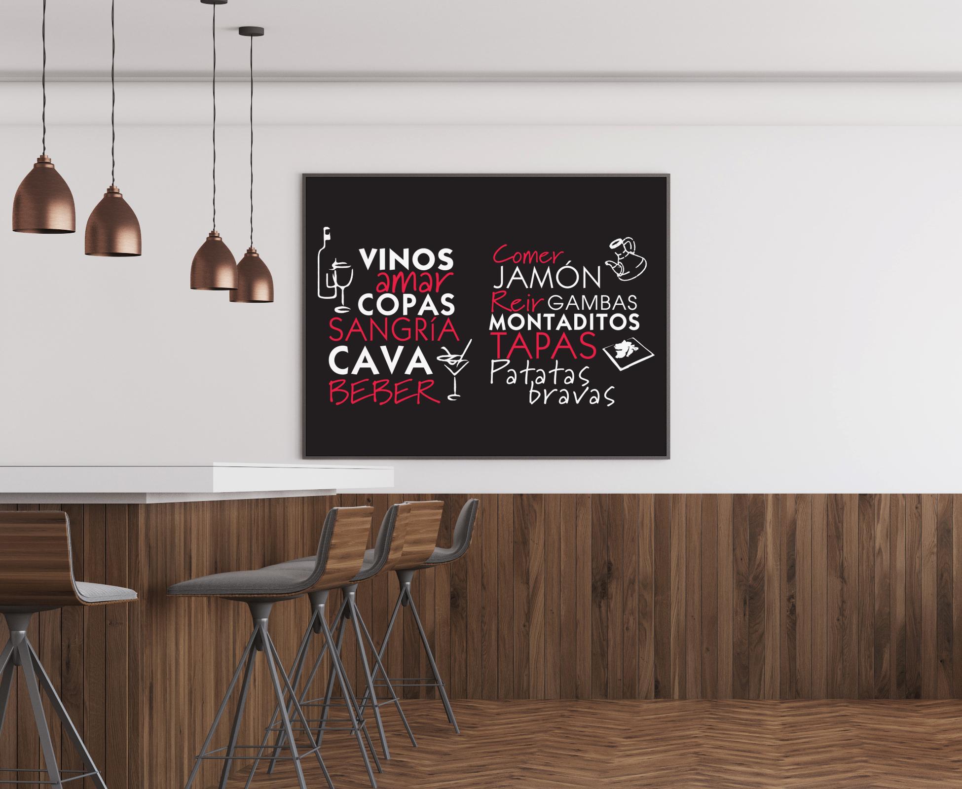 Free Modern Restaurant Interior Frame Mockup PSD